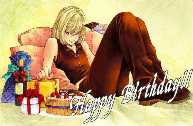 Открытки с днем рождения подруге прикольные смешные аниме 1200